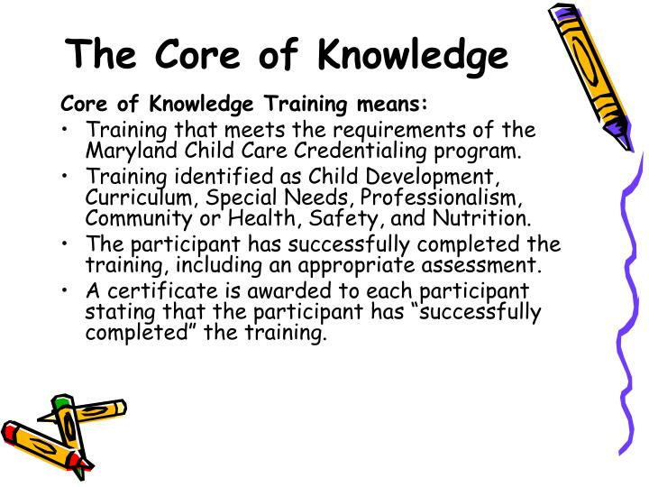 The Core of Knowledge