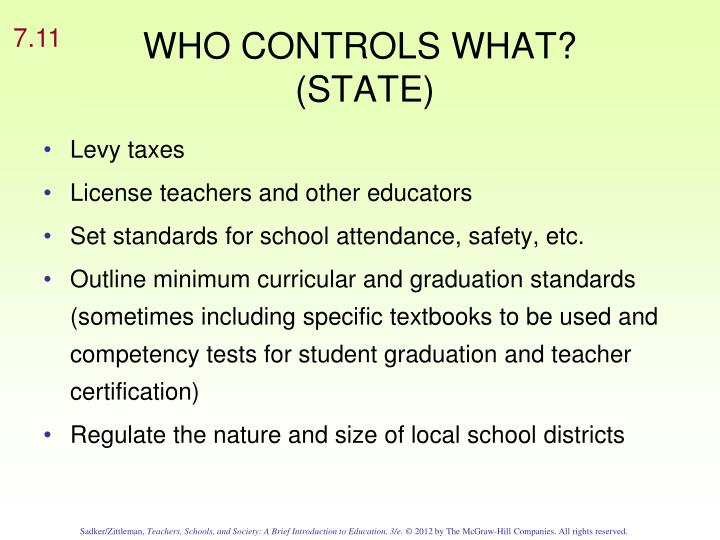 WHO CONTROLS WHAT?