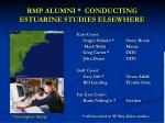 rmp alumni conducting estuarine studies elsewhere