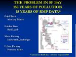 the problem in sf bay 150 years of pollution 15 years of rmp data