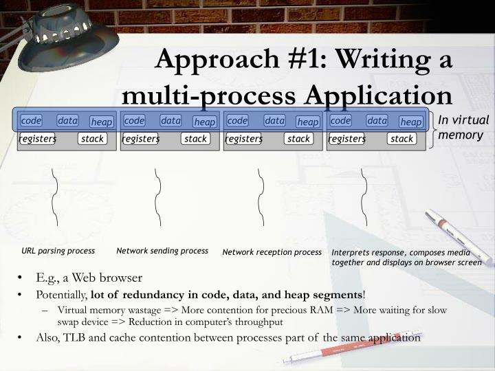 Approach #1: Writing a multi-process Application
