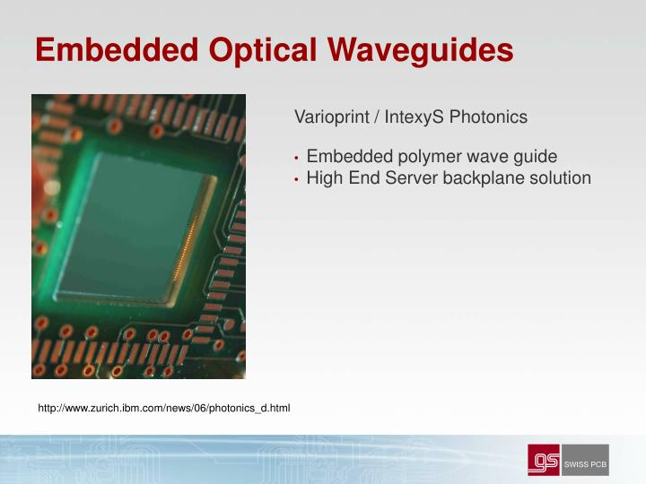 Embedded Optical Waveguides
