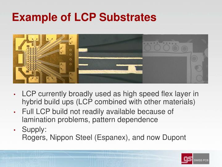Example of LCP Substrates