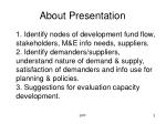 about presentation