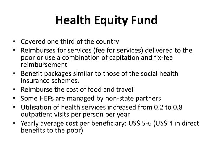 Health Equity Fund