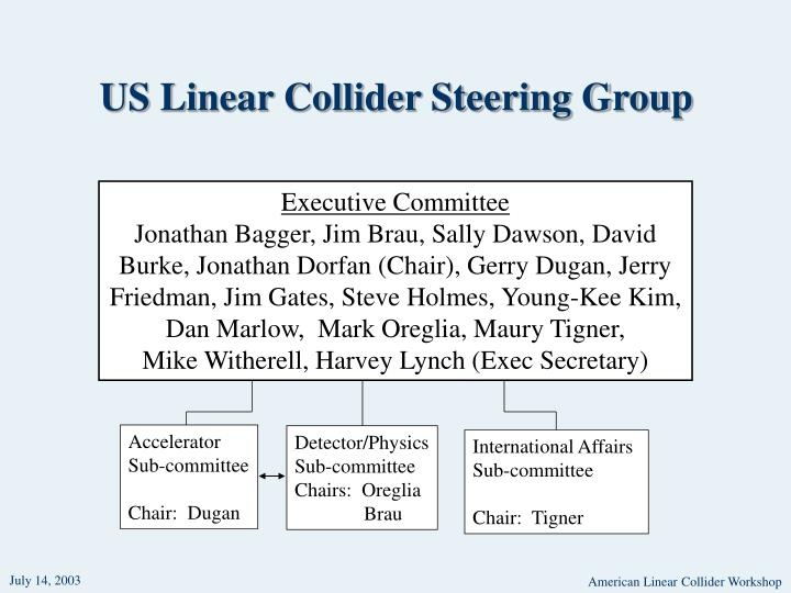 Us linear collider steering group