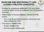 baseline and additionality are closely related concepts