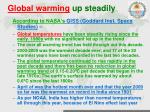 global warming up steadily