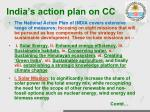 india s action plan on cc