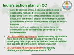 india s action plan on cc3