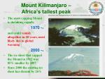 mount kilimanjaro africa s tallest peak