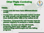 other phyto combating measures