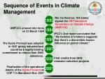 sequence of events in climate management