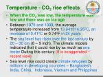 temperature co 2 rise effects