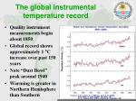 the global instrumental temperature record