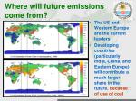 where will future emissions come from