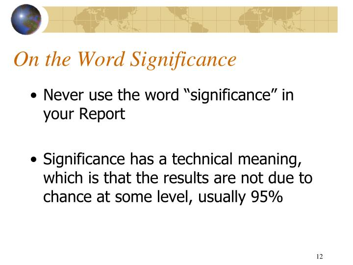 On the Word Significance