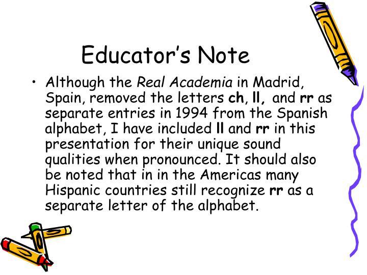 Educator's Note