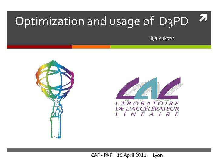 optimization and usage of d3pd n.