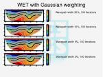 wet with gaussian weighting
