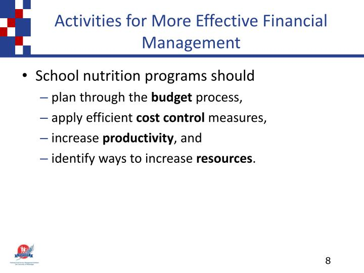 Activities for More Effective Financial Management