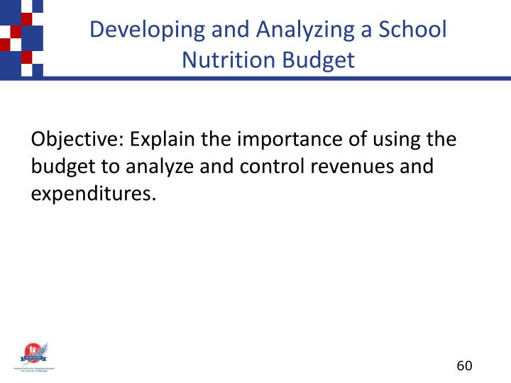 Developing and Analyzing a School Nutrition Budget