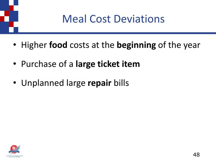 Meal Cost Deviations
