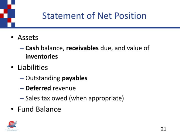 Statement of Net Position