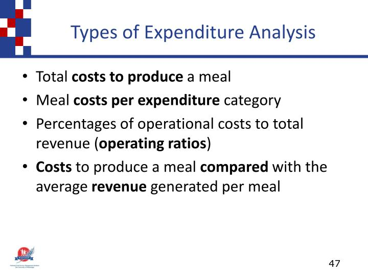 Types of Expenditure Analysis