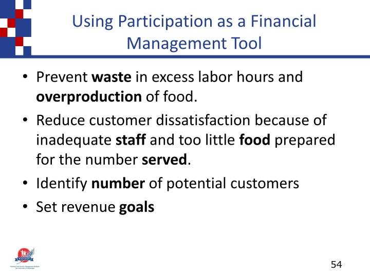 Using Participation as a Financial Management Tool