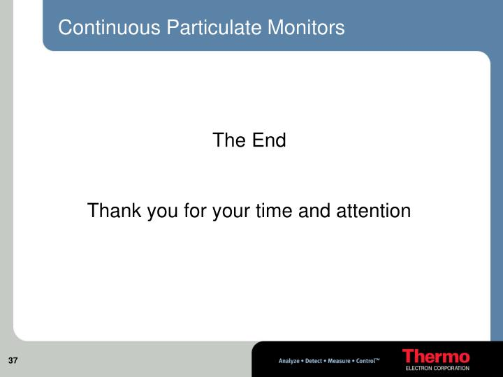 Continuous Particulate Monitors