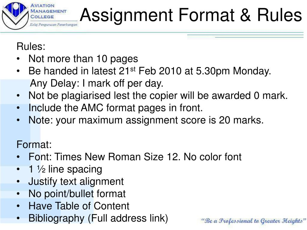 Ppt Stc1204 Assignment Preparation Nov 2010 Powerpoint