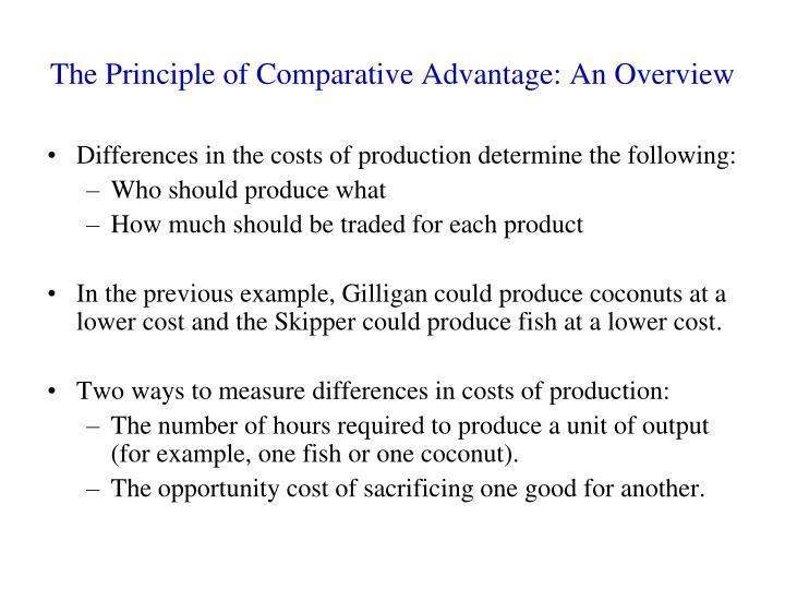 principle of comparative advantage examples