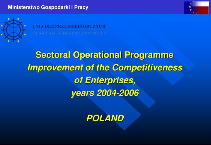 Sectoral Operational Programme