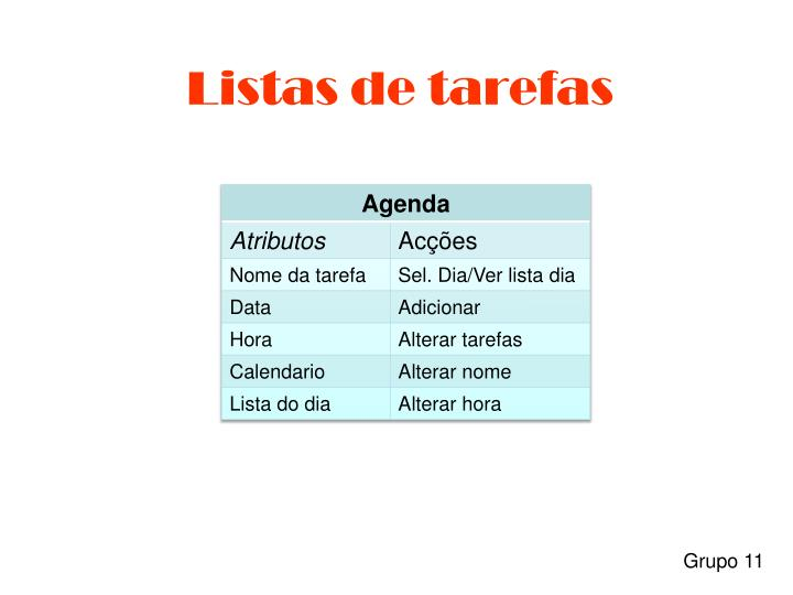 Listas de tarefas1