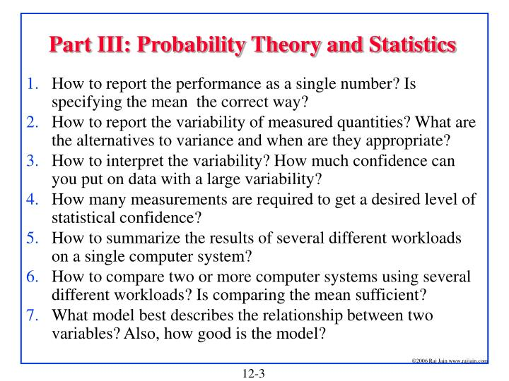 Part iii probability theory and statistics