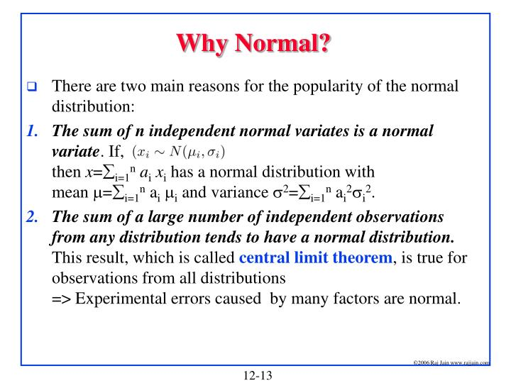 Why Normal?
