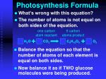 photosynthesis formula1