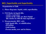 bec superfluidity and superfluidity