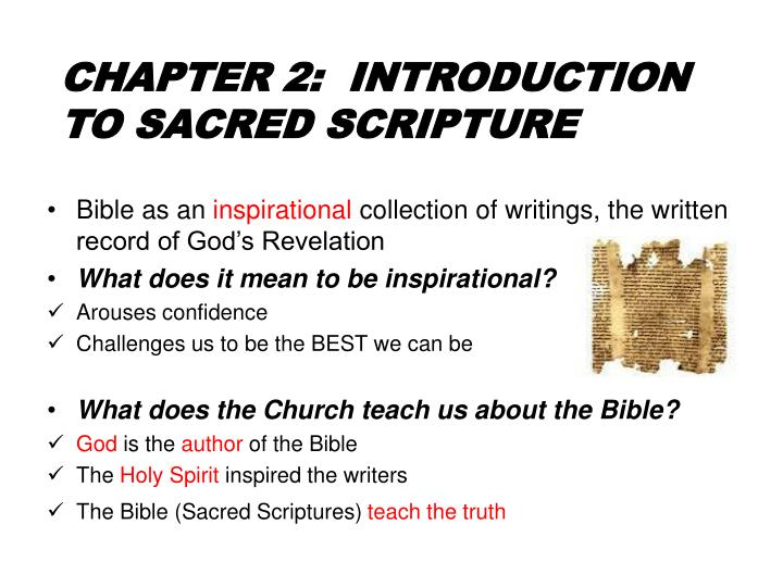 chapter 2 introduction to sacred scripture n.