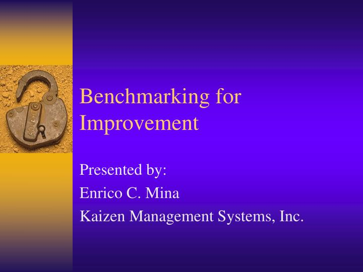 benchmarking for improvement n.