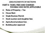 arrangements of sections1
