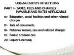 arrangements of sections3