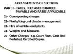 arrangements of sections4