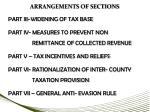 arrangements of sections5
