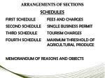 arrangements of sections6