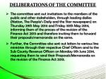 deliberations of the committee1