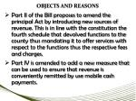 objects and reasons