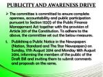 publicity and awareness drive