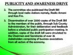 publicity and awareness drive1